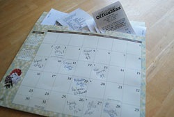 Calendar with File Pocket for Receipt Storage