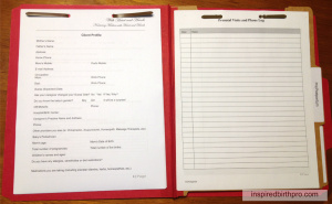 Client Folder Sample - Prenatal/Postpartum Paperwork