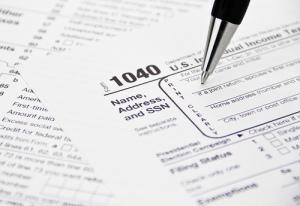 IRS 1040 Tax Form