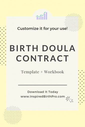 Birth Doula Contract Template and Workbook banner