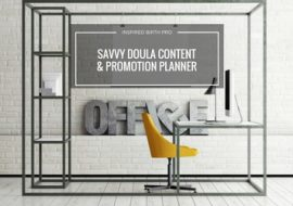 Savvy Doula Content & Promotion Planner