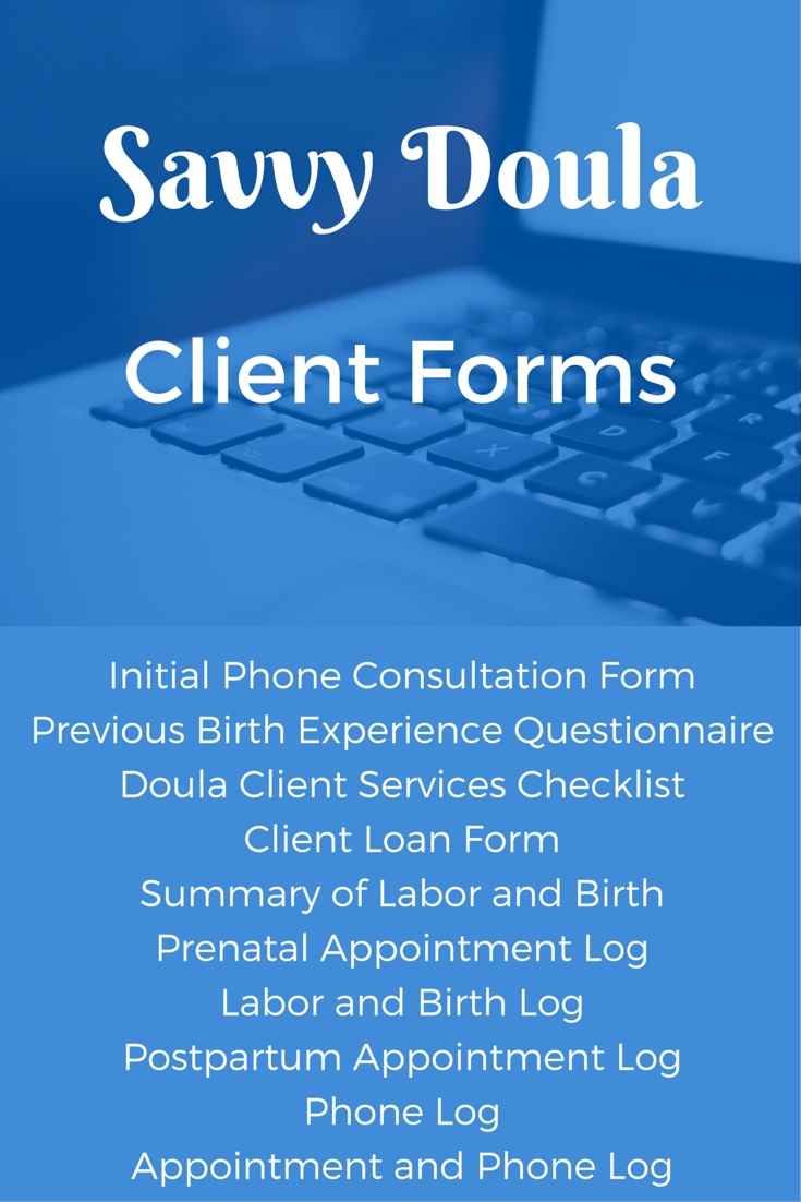 Savvy Doula Client Forms – Complete Set