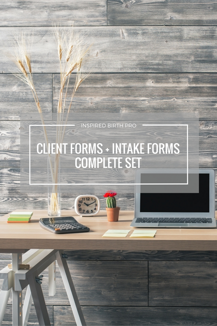 Organize your doula client files using Savvy Doula Forms. This set includes client forms for all your note taking, and intake forms for your clients to complete.