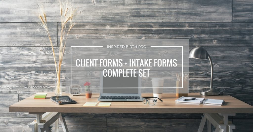 Savvy Doula Forms - Client + Intake Forms Compete Set